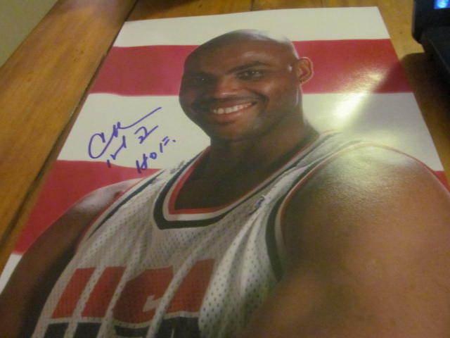 Charles Barkley Philadelphia 76ers/Team USA  Signed 11x14 Photo  JSA