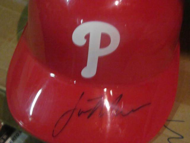 Lou Marson Philadelphia Phillies Signed Batting Helmet COA