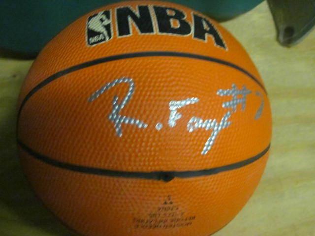 Randy Foye Villanova/Denver Nuggets Signed MIni Basketball COA