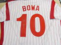 Larry Bowa Philadelphia Phillies Signed Replica Throwback Pinstripe Jersey COA