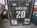 Brian Dawkins Philadelphia Eagles Signed Replica Jersey COA FRAMED