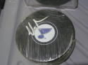 Martin Brodeur St Louis Blues signed Logo Puck COA