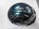 Kenjon Barner Philadelphia Eagles Signed Mini Helmet COA SB Champs Inscription
