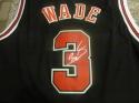 Dwyane Wade Chicago Bulls Signed Replica Jersey COA