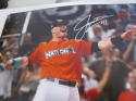 Justin Bour Miami Marlins Signed 8x10 Photo COA  HR Derby