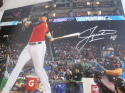 Justin Bour Miami Marlins Signed 8x10 Photo COA  HR Derby 2