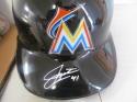 Justin Bour Miami Marlins Signed Authentic Batting Helmet COA