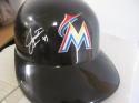 Justin Bour Miami Marlins Signed Plastic Batting Helmet COA