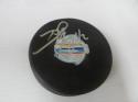 David Backes Boston Bruins Signed World Cup logo Puck COA