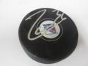 Mats Zuccarella New York Rangers Signed  logo Puck COA