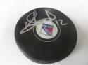 Peter Holland New York Rangers Signed  logo Puck COA