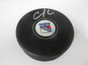 Chris Krieder New York Rangers Signed  logo Puck COA