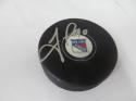 Vladislav Namestnikov New York Rangers Signed  logo Puck COA