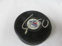 Lias Andersson New York Rangers Signed  logo Puck COA