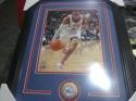 Allen Iverson Philadelphia 76ers signed 8x10 framed photo COA