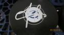 Vladislav Namestinkov Tampa Bay Lightning Signed  logo Puck COA