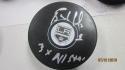 Bernie Nicholls Los Angeles Kings Signed Logo Puck COA Inscription
