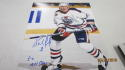Bernie Nicholls Edmonton Oilers Signed 8x10 Photo COA Inscription 2