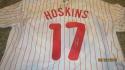 Rhys Hoskins Philadelphia Phillies Signed Home Jersey JSA