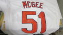 Willie McGee St Louis Cardinals Signed Home Jersey COA