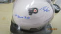 Morgan Frost Philadelphia Flyers Signed Mini Helmet JSA