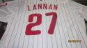 John Lannan Philadelphia Phillies 2013 Authentic home Game Used Jersey  MLB Auth