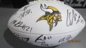 2018 Minnesota Vikings Team Signed Logo Football COA