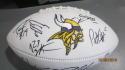 2018 Minnesota Vikings Team Signed Logo Football COA 2