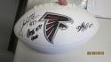 2018 Atlanta Falcons Team Signed Logo Football COA