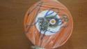 Taylor Leier Philadelphia Flyers Signed Orange Logo Puck COA