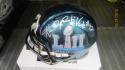 Halapoulivaati Vaitai Philadelphia Eagles Signed Superbowl 52  Mini Helmet COA