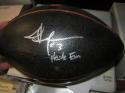 Jordan Hicks Texas Longhorns/Eagles Signed Logo Football COA