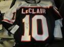 John Leclair Philadelphia Flyers Signed Replica Black Jersey COA