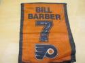 Bill Barber Philadelphia Flyers Signed Retired Number Banner COA