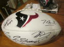 2018 Houston Texans Team Signed Logo Football COA