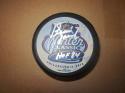 Bernie Parent  Philadelphia Flyers Signed 2012 Winter Classic Puck COA HOF Inscription