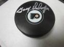 Gary Dornhoefer Philadelphia Flyers Signed Logo Puck COA