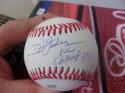 Ivan Dejesus Phillies/Cardinals/Cubs Signed OLB Baseball COA 83 NL Champs Ins