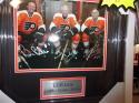 LCB Line Philadelphia Flyers Signed 8x10 Framed Photo COA Clarke/Leach/Barber