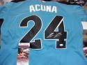 Ronald Acuna Jr Atlanta Braves Signed Replica Futures Game Jersey JSA Inscription