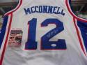 TJ Mcconnell Philadelphia 76ers Signed Custom Jersey JSA