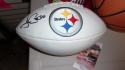 James Connor Pittsburgh Steelers Signed Replica Logo Football JSA