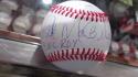 Bake McBride Philadelphia Philles Signed OLB Baseball COA Inscription