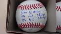 Kiko Garcia Baltimore Orioles/Philadelphia Phillies Signed OLB Baseball COA 2 inscriptions