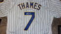 Eric Thames Milwaukee Brewers Signed  Replica Jersey COA