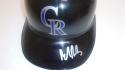 Brendan Rodgers Colorado Rockies Signed Batting Helmet COA
