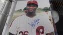 Jeff Stone  Philadelphia Phillies Signed 8x10  Photo COA 2