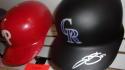 Trevor Story Colorado Rockies Signed Authentic FS Helmet COA