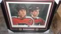 Eric Lindros/John Leclair Philadelphia Flyers Signed 16x20 Framed Litho Photo COA