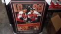Eric Lindros/John Leclair Philadelphia Flyers Signed 16x20 Framed HOF Poster COA